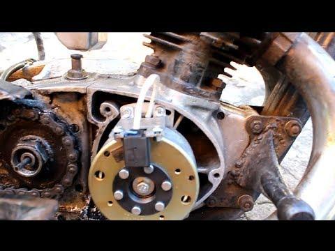 Установка электронного бесконтактного CDI зажигания БСЗ на мотоцикл иж 49...