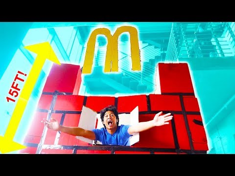 MEGA GIANT McDonalds Box Fort!!!