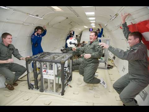 Soccer Ball in Zero Gravity