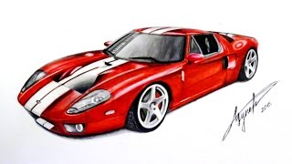 Drawing Ford GT40