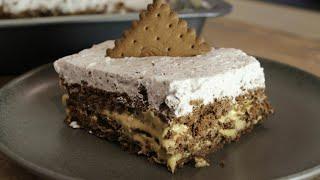 Πεντανόστιμο Γλυκό Ψυγείου με 4 ΜΟΝΟ υλικά - Caramel & Biscuits Epic Dessert with 4 Ingredients