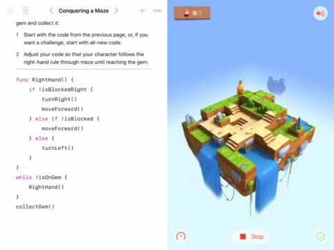 Swift Playgrounds Learn To Code 1 Conquering A Maze from