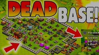 Clash of Clans Best Range For Dead Bases! Find Dead Bases in 3 Searches!
