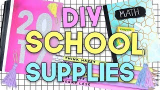 DIY School Supplies 2017! Make your School Supplies look Cute for Cheap!