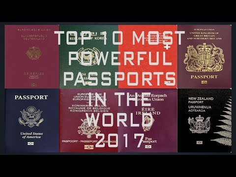 These Are The Most Powerful Passports In The World| 10 World's Most Powerful Passports (2016/2017)