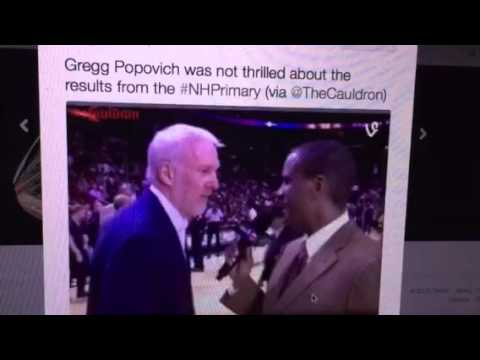 Greg Popovich Reacts To Sanders, Trump New Hampshire Primary News