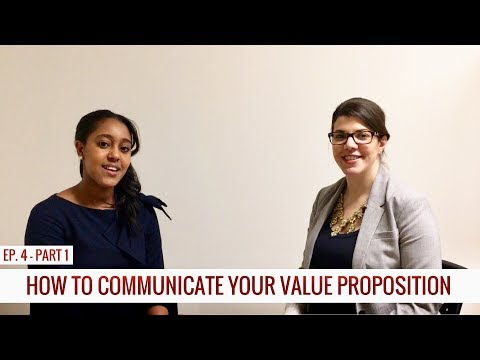 EPISODE 4 PART 1: LIANA TALKS VALUE PROPOSITION, BRANDING, CAREER STRATEGY
