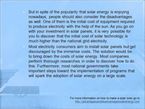 What are the Disadvantages of Solar Energy