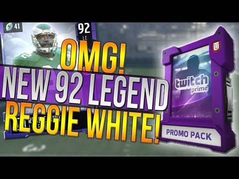 NEW 92 OVR REGGIE WHITE LEGEND! HOW TO GET A FREE 90 OVERALL LEGEND! Madden 18 Ultimate Team