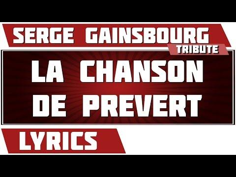 La Chanson De Prevert - Serge Gainsbourg - paroles