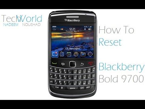 How To Reset Blackberry Bold 9700 [ OS6 ] : Nadeem Tech World