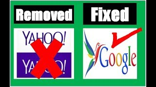 how to remove Yahoo from  chrome  browser