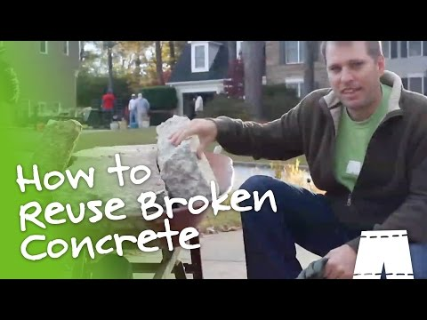 How To Repurpose Concrete For DIY Landscaping
