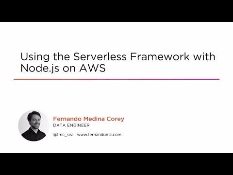 Course Preview: Using the Serverless Framework with Node js on AWS