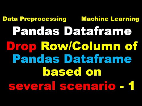 Python for Machine Learning - Part 6 - Drop Rows and Columns of a Pandas Dataset1