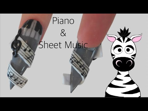 Piano Music Acrylic Nail Art Tutorial Collaboration With Leneha Junsu