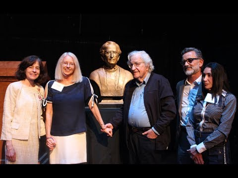 Noam Chomsky Bronze Bust Unveiling