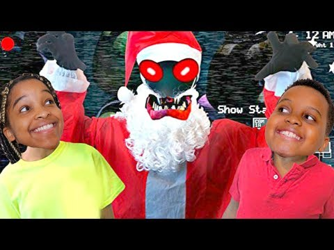 Thumbnail: Bad Baby Five Nights At Freddy's Santa Edition - Santa Claus ATTACKS - Shasha and Shiloh Onyx - Kids