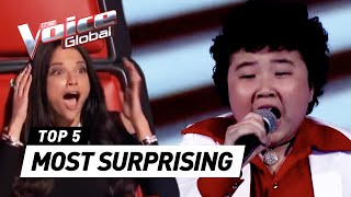 The Voice Kids | MOST SURPRISING 'Blind Auditions' worldwide