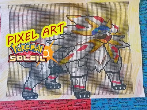 Pixel Art Solgaleo Pokemon Sun Soleil Dessin Drawing Youtube