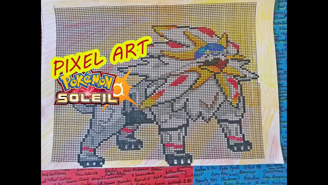 Pixel Art De Pokemon Facil