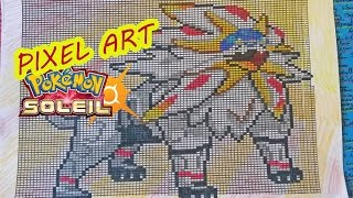 Pixel Art Solgaleo Pokemon Sun Soleil Dessin Drawing Youtube