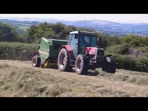 Massey Ferguson 6180 Baling Hay 2013 Co.Cork