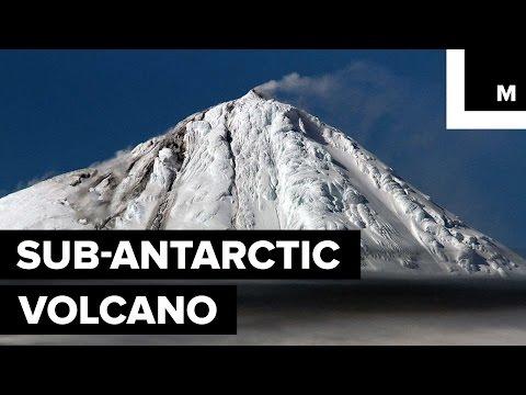 Rare Footage of a Remote Sub-Antarctic Volcano Erupting