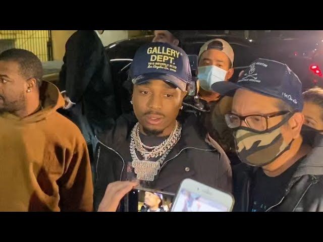 Quavo Keeps His Cool While Surrounded By Over Eager Selfie-Seeking Fans