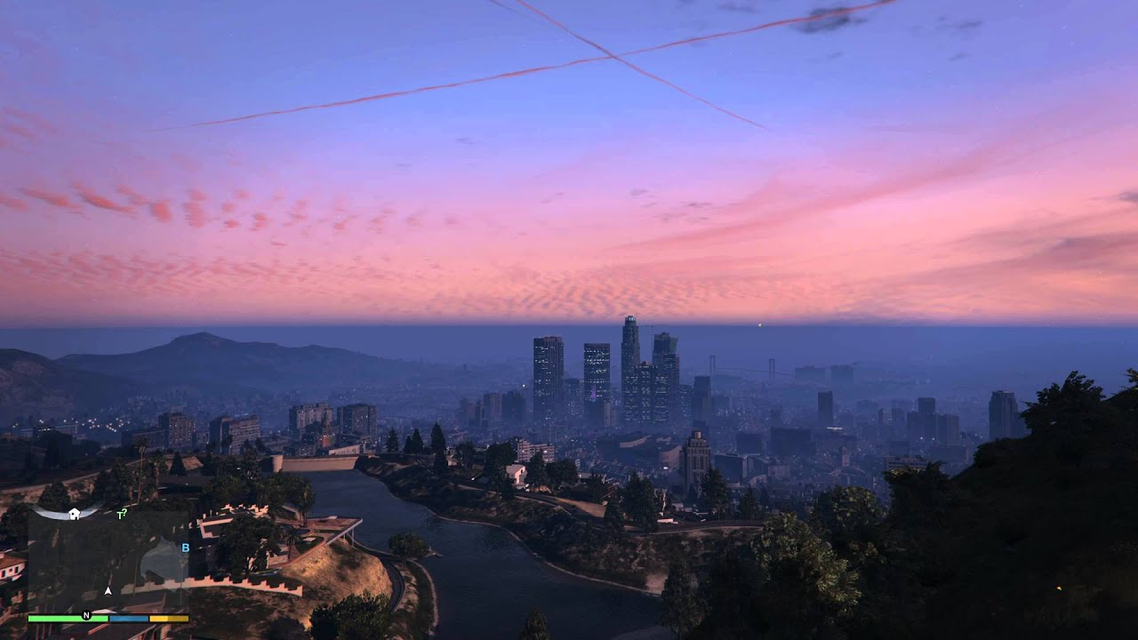 Gaming Wallpapers Hd Gta V Skyline City 4k Test Particles Amp Max Settings 8xmsaa