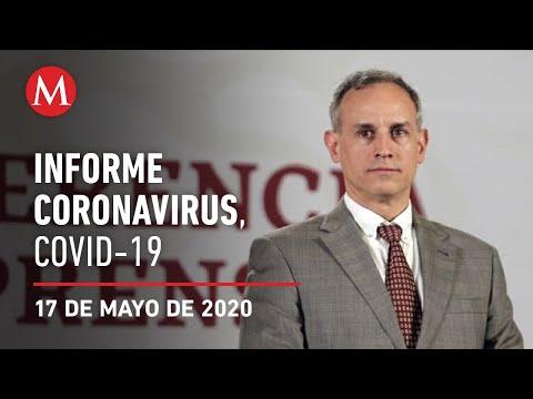 Informe diario por coronavirus en México, 17 de mayo de 2020
