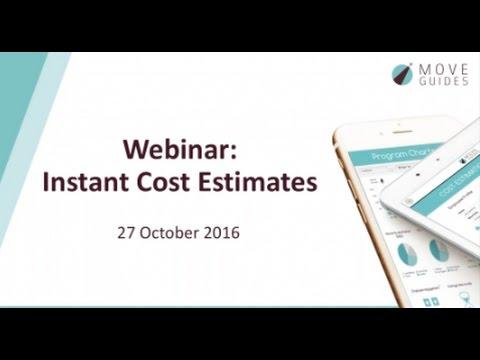 Webinar: Cost Estimate Tool - October 2016