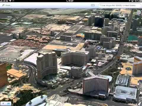 Flyover Las Vegas IOS 6 Apple Maps
