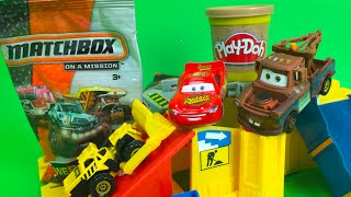 Matchbox Mission & 2 Blind bags - Construction Blast Play Set with Die Cast Construction toys