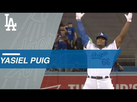 Puig calls his shot, gets curtain call