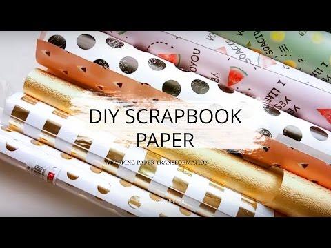 DIY Wrapping Paper Scrapbook
