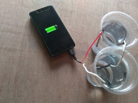 Charge smartphone by water ,amazing smartphone life hacks