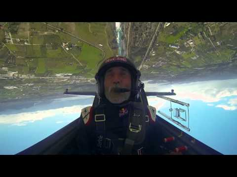 Peter Besenyei Flies Through the Corinth Canal