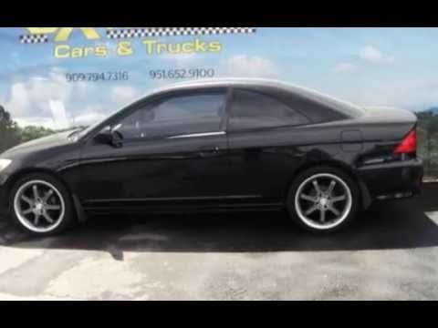 used 2005 honda civic coupe for sale in riverside ca preowned civic dealers youtube. Black Bedroom Furniture Sets. Home Design Ideas