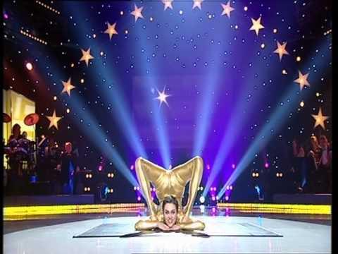 "Nina Burri in Alain Morisod TV Show with ""Goldeneye"""