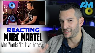 VOCAL COACH reacts to MARC MARTEL singing WHO WANTS TO LIVE FOREVER