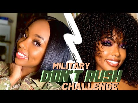 Military Don't Rush Challenge Pretty Girls In Arms