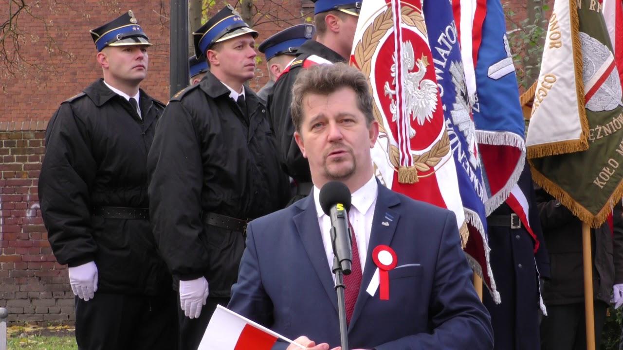 Przemówienie burmistrza Malborka  Marka Charzewskiego – 11.11.2017