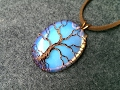 """pendant """"Tree of Life"""" with big opalite no holes - Wire Wrapping stones 206"""