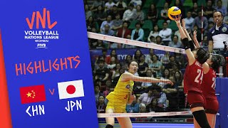 CHINA vs. JAPAN -  Highlights Women | Week 3 | Volleyball Nations League 2019