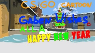 CS:GO-Cartoon. HappyNewYear & Frohe Weihnachten