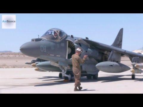 AV-8B Harrier Pre-flight, Conventional Takeoff & Landing.