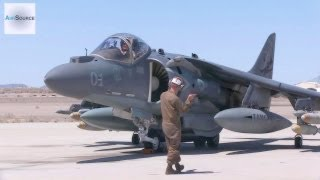 AV-8B Harrier Pre-flight, Conventional Takeoff & Landing.