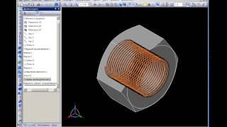 Внутренняя резьба в КОМПАС-3D