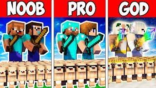 Minecraft NOOB vs PRO vs GOD : FAMILY ARMY BATTLE ADVENTURE in Minecraft Animation